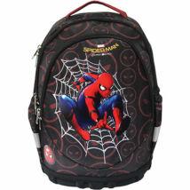 Pókember ergonomikus iskolatáska, hátizsák fekete-barna 38*18*44 cm