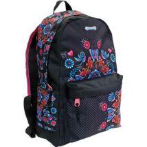 Catalina Estrada lekerekített iskolatáska, hátizsák virágokkal 27*18*43 cm