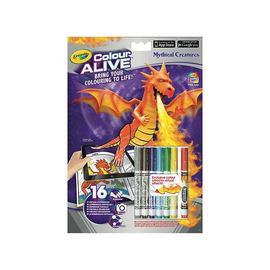 Crayola - Alive sárkányok és kastélyok kifestő füzet