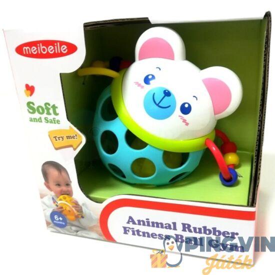 Műanyag és soft macis csörgő labda bébinek