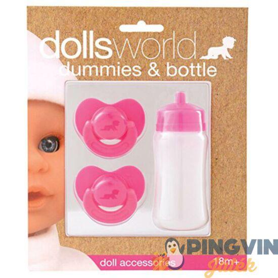 Dolls World - Babaszett (2 cumi   cumisüveg)