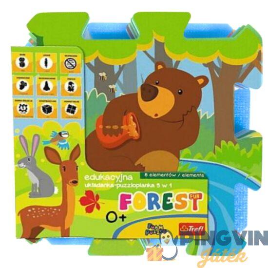 Trefl - Erdei móka szivacs puzzle 30*30 cm