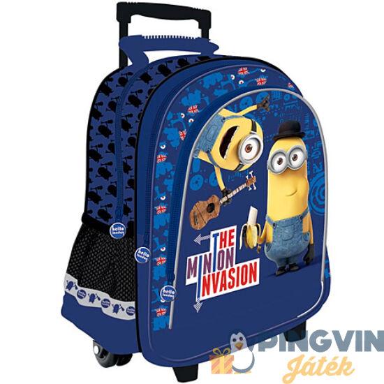 Minyonos húzható iskolatáska hátizsák 41*25*17 cm