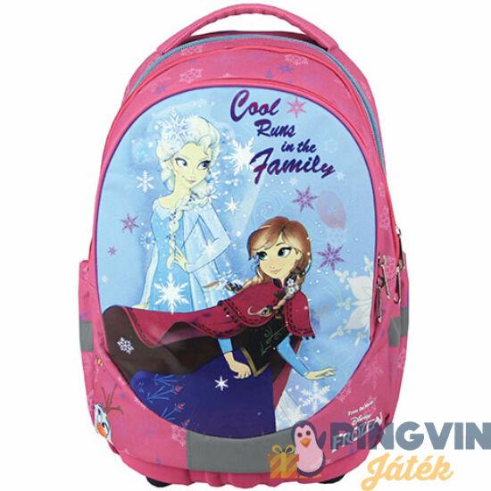 Jégvarázs rózsaszín ergonomikus iskolatáska, hátizsák 33*18*44 cm