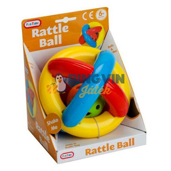 Fun Time - Bébi  gumi csörgős labda