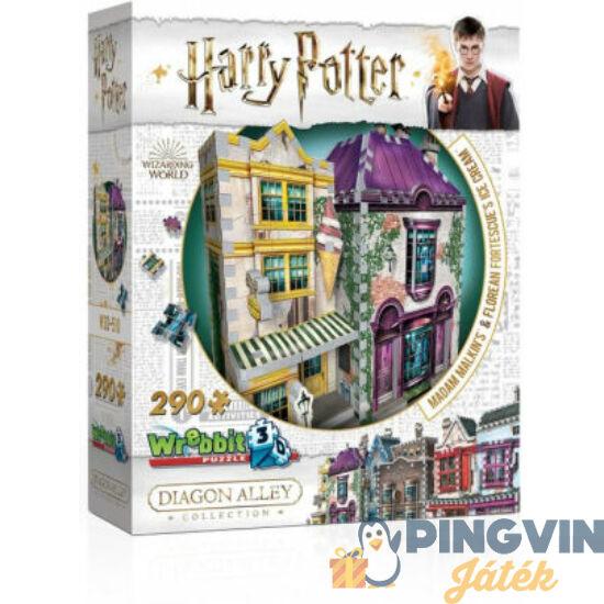 3D exkluzív puzzle: Harry Potter-Madam Malkin talárszabászata és fagylaltszalon 290 db-os (W3D-0510)