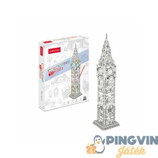 3D puzzle: Kiszínezhető Big Ben - Cubicfun
