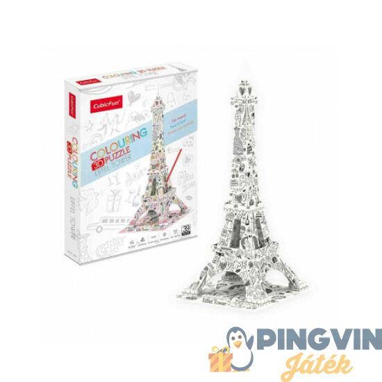 3D puzzle: Kiszínezhető Eiffel torony - Cubicfun
