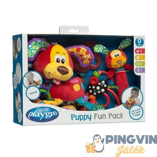 Playgro - Kutya rágóka és csörgő készlet