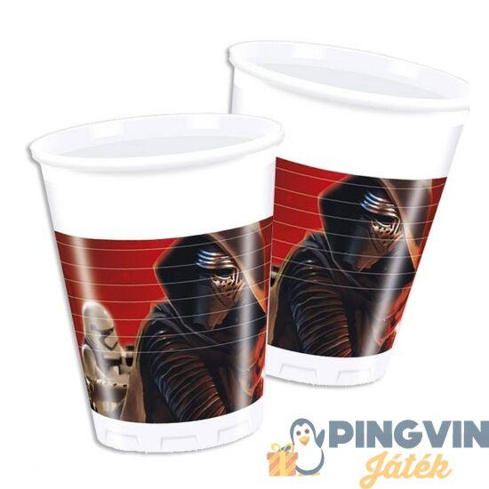 Star Wars - Ébredő erő műanyag pohár 8db-os szett 200ml