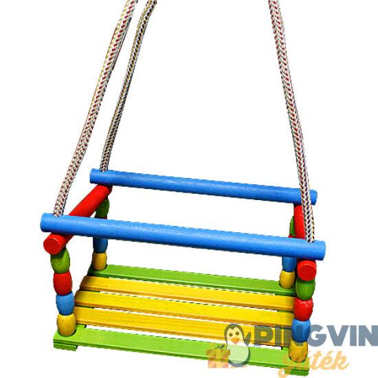 D-Toys - Fa színes hinta kötéllel