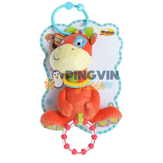 Winfun - Plüss csörgő - zsiráf
