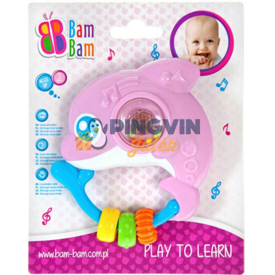 Delfin interaktív bébicsörgő - B-Toys