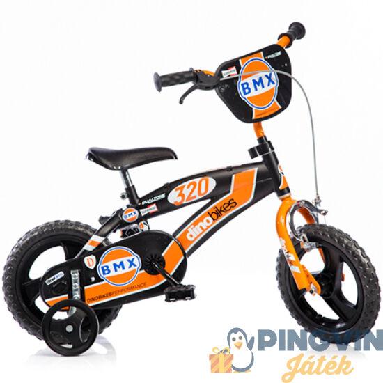 BMX fekete-narancs kerékpár 12-es méretben