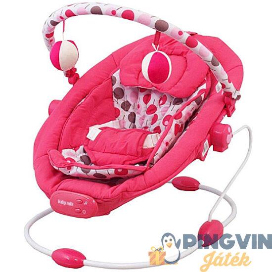 Alexis - Zenélő babafotel rezgő funkcióval pink színben