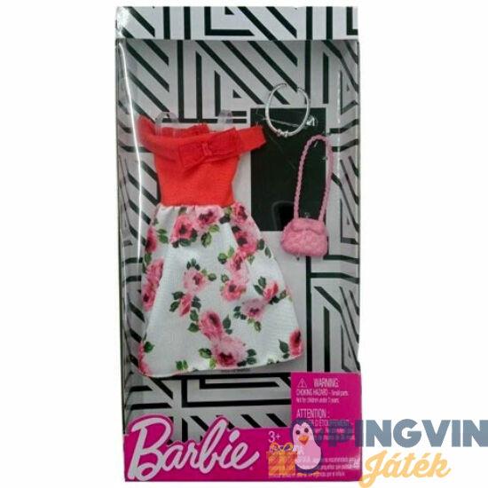 Barbie: Virágos ruhaszett táskával - Mattel