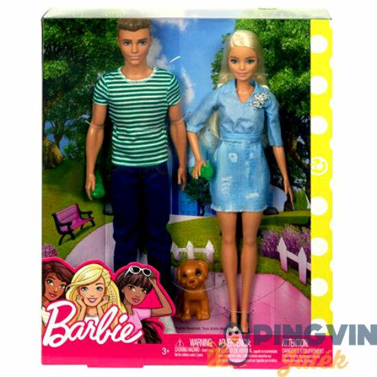Barbie és Ken kutyussal szett - Mattel
