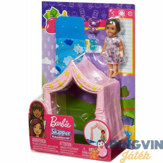 Barbie: Bébiszitter játszósátor szett kiegészítőkkel - Mattel