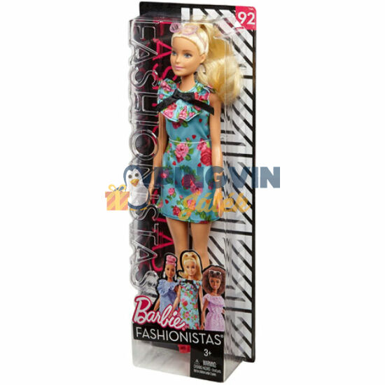 Barbie Fashionistas: Stílusos baba szőke hajjal rózsás ruhában - Mattel