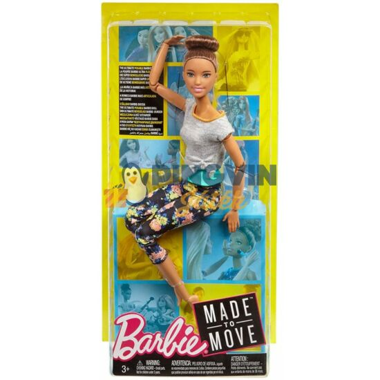 Barbie Hajlékony jógababa barna hajjal - Mattel