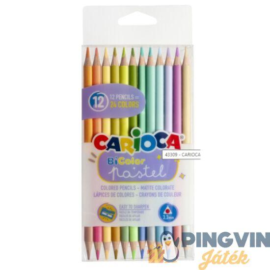 Carioca - Bi-Color 12db-os pasztell színű két végű színes ceruza szett (43309)
