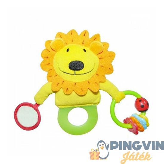 Biba Toys - Tesztil oroszlános csörgő