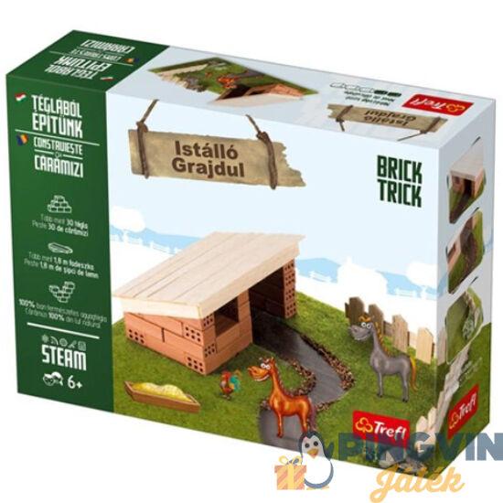 Brick Trick Téglából építünk: Istálló építőjáték - Trefl