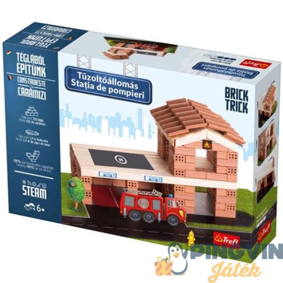 Trefl - Brick Trick Téglából építünk: Tűzoltóállomás építőjáték (60966)