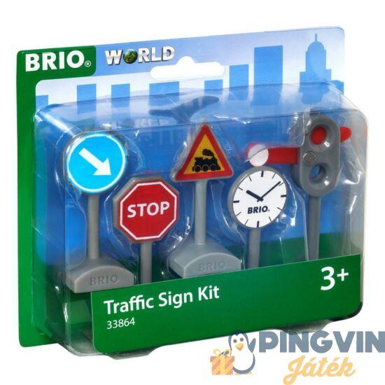 Brio Közúti jelzőtábla szett 33864