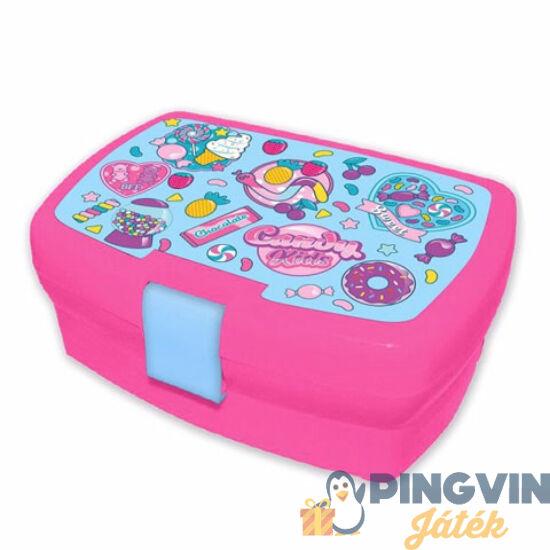 Kids Euroswan - Candy rózsaszín uzsonnás doboz 18x12x7cm (KL10266)