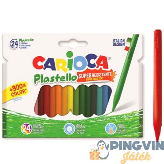 Carioca - Plastello zsírkréta szett tartós színekkel 24db-os (42880)