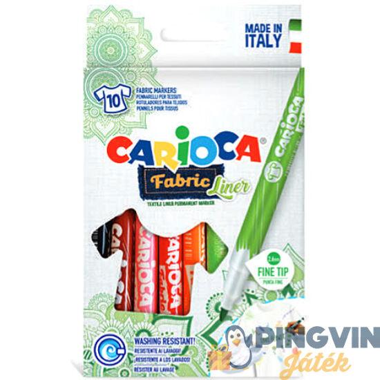 Carioca - Fabric Liner textil filc szett 10db-os (42909)