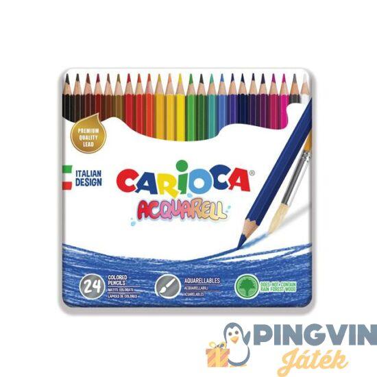 Carioca - Acquarell színesceruza 24db-os fém dobozos (42860)