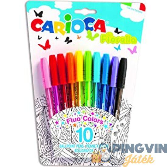 Carioca - Fiorella színes golyóstoll 10db-os (42775)
