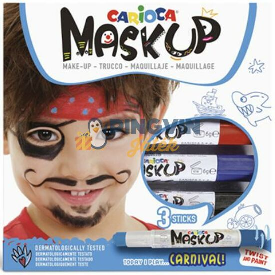 Carioca - Maskup  Kalóz arcfestő szett 3 színnel (43050)
