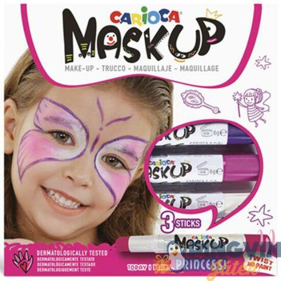Carioca - Maskup Hercegnő arcfestő szett 3 színnel (43049)