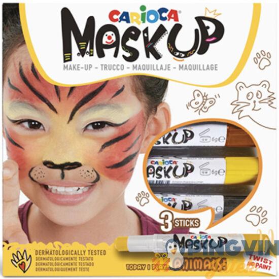 Carioca - Maskup Tigris arcfestő szett 3 színnel (43048)
