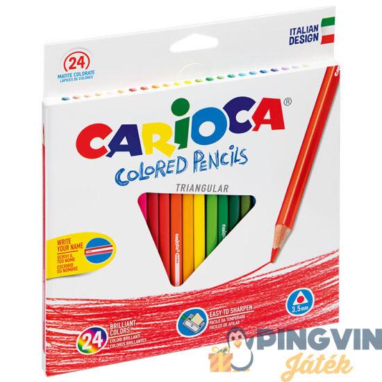 Carioca Triangular Színesceruza 24db-os