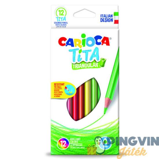 Carioca Tita 12db-os háromszög színesceruza