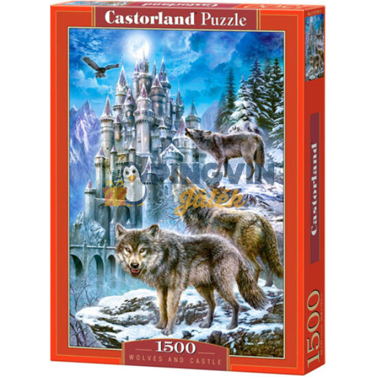 Castorland - Farkasok a kastélynál 1500db-os puzzle (C-151141-2)