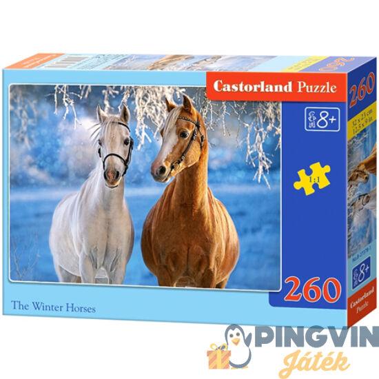 Castorland - Lovak a téli tájban 260db-os puzzle