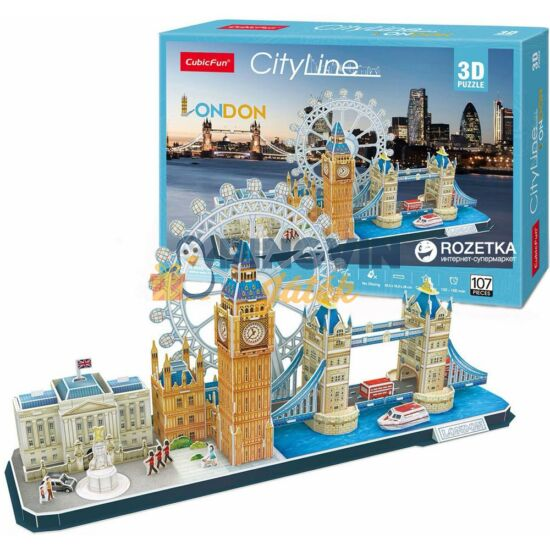 3D puzzle: City Line London 107 db-os - Cubicfun
