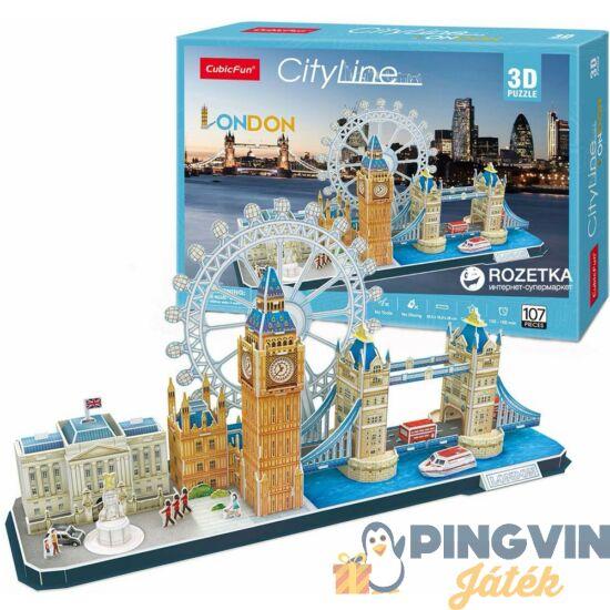 3D puzzle: City Line London 107 db-os - Cubicfun