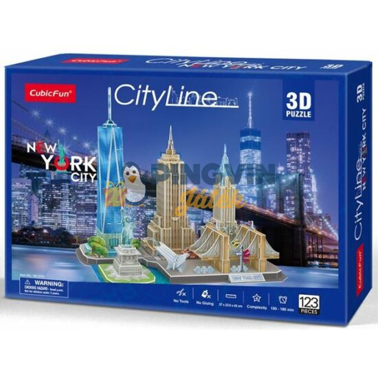 3D puzzle: City Line New York - Cubicfun