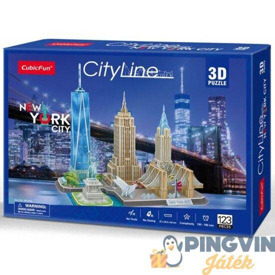 3D puzzle: City Line New York - Cubicfun