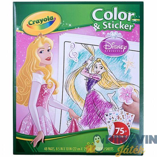 Crayola Disney hercegnők kifestő+matricák