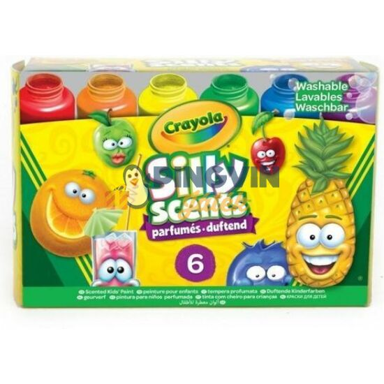 Crayola - Szagos színek - Illatozó festék 6 db-os