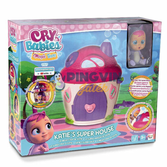 Cry babies - Katie könnyes baba háza játékszett babával és kiegészítőkkel