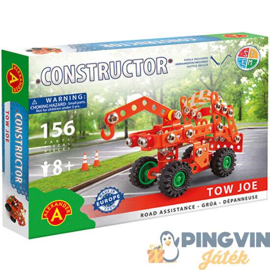 Csőrös vontató jármű fém építőjáték 156db-os - Alexander Toys