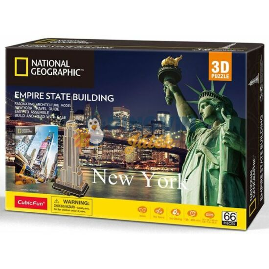 CubicFun - National Geographic 3D puzzle, New York 66db-os (DS0977)